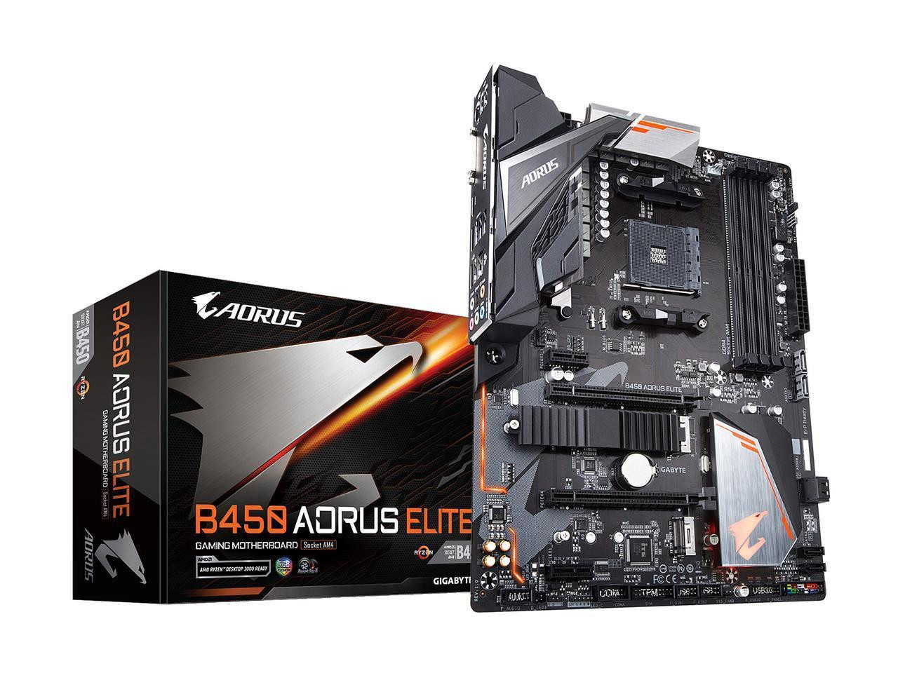 Aorus Ultra Durable B450 AORUS ELITE Desktop Motherboard - AMD Chipset -  Socket AM4