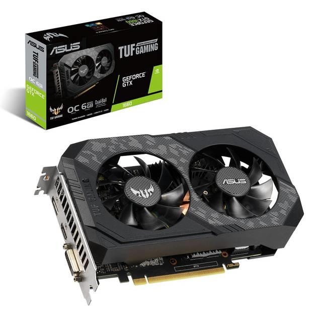 Asus TUF Gaming NVIDIA GeForce GTX 1660 Overclocked Dual-Fan 6GB GDDR5  DVI/HDMI/DisplayPort PCI-Express