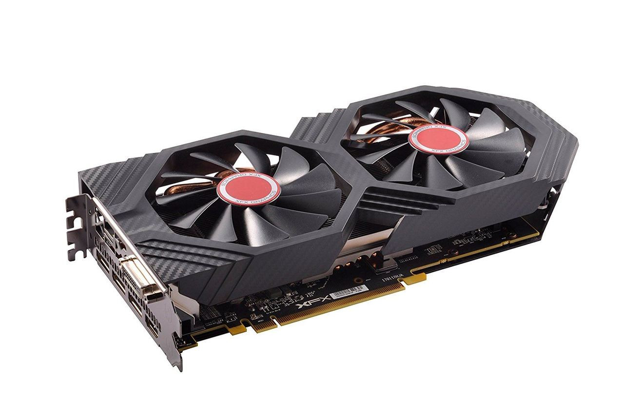 XFX Radeon RX 580 DirectX 12 RX-580P8DFD6 XXX Edition 8GB 256-Bit DDR5 PCI  Express 3 0 CrossFireX Support Video Card