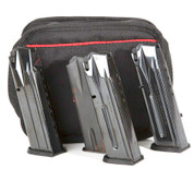 The Grizzly Rimfire will hold six pistol magazines