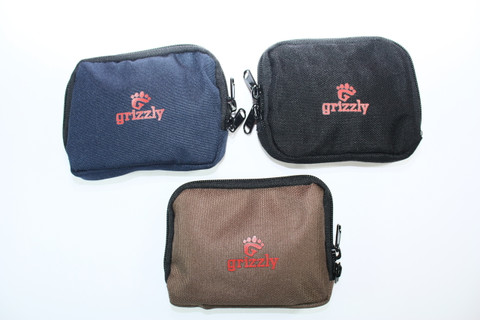 Grizzly 4 X 5 Inch Color Coded Small Utility Gear Bags. Pack of Three for All Travel & Outdoor Activities. Two pockets & Velcro Backing. Hold Cash, Batteries, USB, Keys, Ammo, First Aide, Toiletries, Small Gear