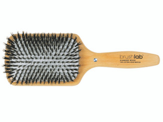 Diamond Wood Square Cushion Hairbrush