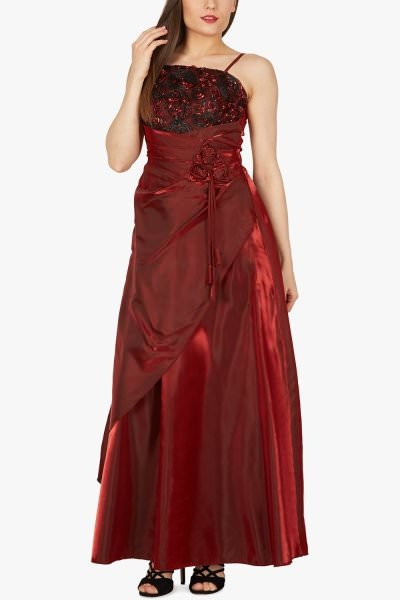 'Belle' Satin Bliss Ballgown - Red