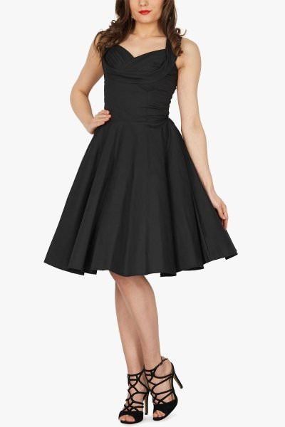 'Aura' Classic Clarity 50's Dress - Black