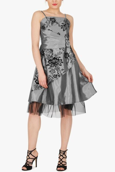 'Tara' Satin Eternal Prom Dress - Silver