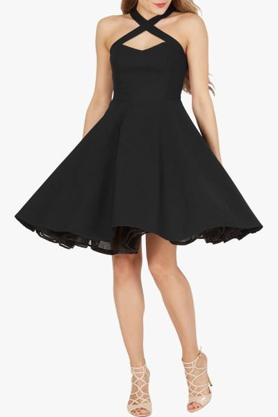 'Sophie' Classic Clarity 50's Dress - Black