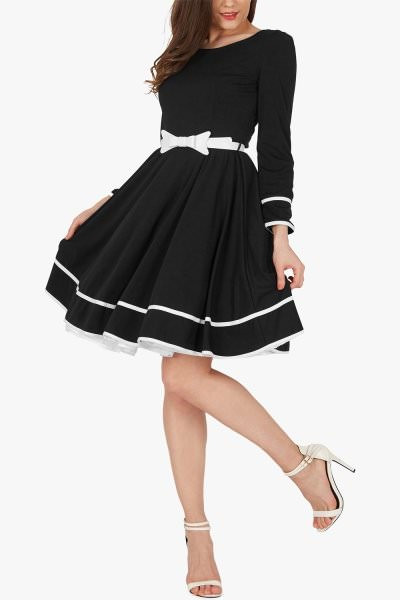 'Grace' Vintage Clarity Dress - Black