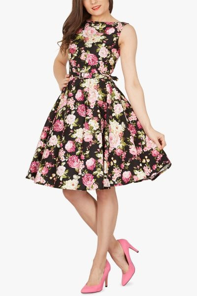 'Audrey' Vintage Divinity 50's Dress - Black
