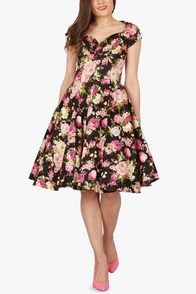 'Ruby' Vintage Divinity Swing Dress - Black