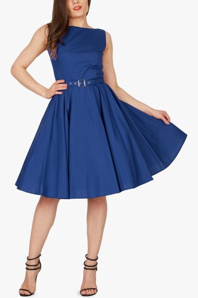 'Audrey' Vintage Clarity 50's Dress - Royal Blue