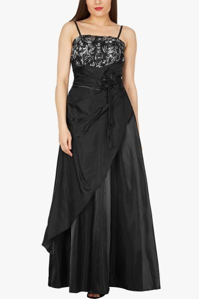 'Belle' Satin Bliss Ballgown - Black