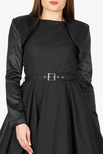 Formal Long Sleeve Bolero - Black