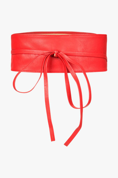 Obi Self Knot Tie Belt - Red