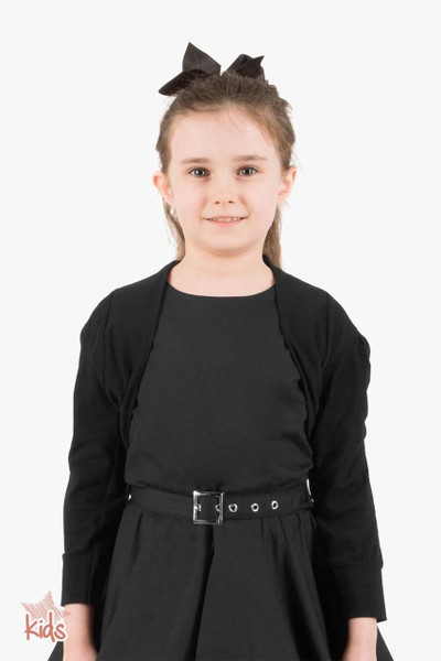 Kids Half Sleeve Bolero Shrug - Black