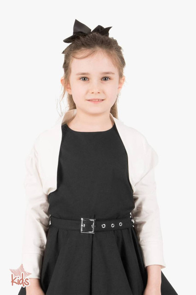 Kids Half Sleeve Bolero Shrug - Ivory