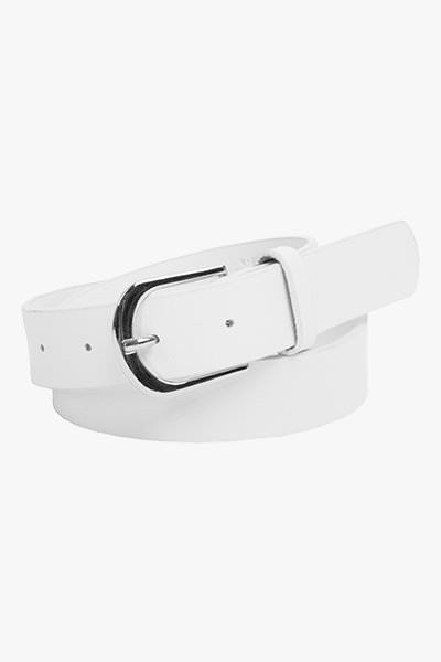 Leather Jeans Belt - White