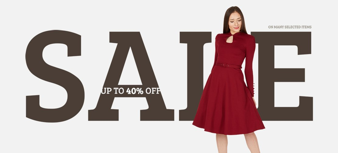 Huge sale now on with up to 40% off many selected items!