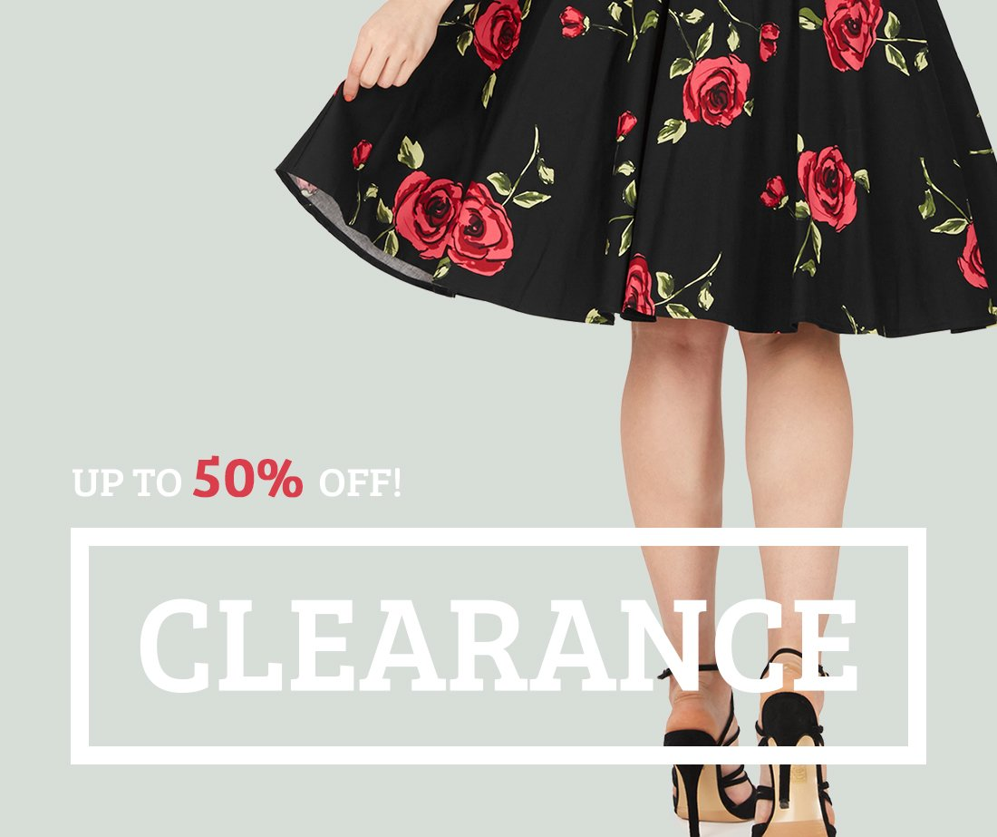 Grab up to 50% off on our clearance items now!
