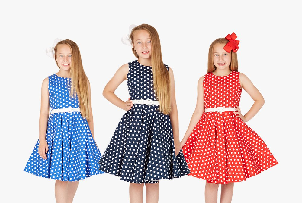 Check out our kids Audrey polka dot range available for £25.99