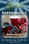 Boost your immune system, support your nervous system, balance your blood pH and promote healthier skin and hair all in one drink! SuperFruit C contains a synergistic blend of the most potent whole food sources of Vitamin C on the planet.  Sources of Vitamins C, A, B1, B2 and B3, anti-oxidants, absorbable calcium, iron, magnesium, and potassium.