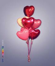 7 Mylar Hearts