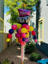 Happy Birthday Balloon Bouquet Pole