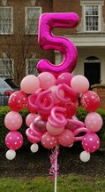 Happy Birthday Single Digit Balloon Bouquet Pole