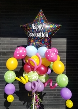 Graduation-Happy Graduation Star Balloon Bouquet Pole