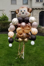 Happy Monkey Balloon Bouquet Pole
