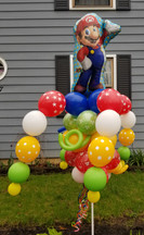 Mario Balloon Bouquet Pole