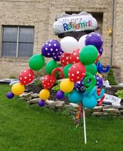 Happy Retirement Balloon Bouquet Pole