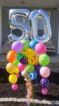 Happy Birthday Double Digit Balloon Bouquet Pole