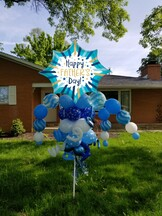Father's Day Star Balloon Bouquet Pole