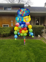 Father's Day Texts Balloon Bouquet Pole