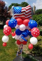 American Flag Balloon Pole