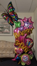 """Over The Top"" Magical Mylar Celebration Column [customizable]"