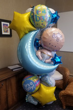 New Baby Magical Mylar Celebration Column [customizable]