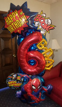 Superhero Magical Mylar Celebration Column [customizable]