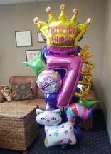 """""""Queen for the Day"""" Magical Mylar Celebration Column [customizable]"""