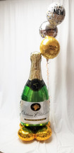 Champagne  Bottle and Balloons