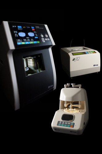 The E1000 lens edger and accompanying FD-80 and LS-82 are everything an optical lab technician needs to start producing prescription glasses and lenses. The three devices perfectly fit both functionally and aesthetically, updating the style and capability of any lens lab.