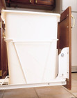 White Door Mount Kit for RV Wire Waste Containers