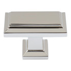 290-PN Sutton Place Rectangle Knob Polished Nickel