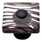 3205-O Milkyway Square Glass Knob Aged Bronze