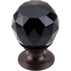 "TK115ORB Black Crystal Knob 1 1/8"" w/ Oil Rubbed Bronze Base"