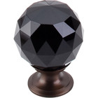 "TK116ORB Black Crystal Knob 1 3/8"" w/ Oil Rubbed Bronze Base"