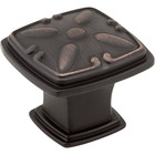 1093DBAC Milan 2 Detailed Square Cabinet Knob Brushed Oil Rubbed Bronze