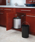 Single Round 15L Pivot-out Stainless Steel Under Sink Waste Container