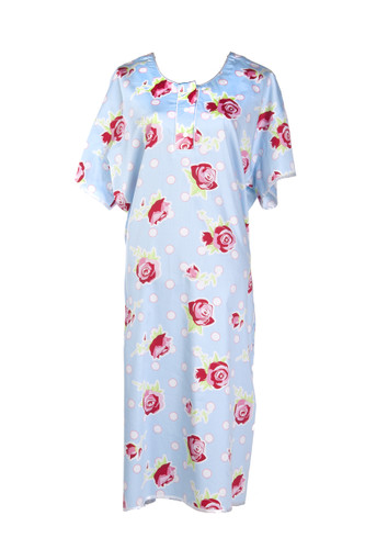 The roses Gorgeous Hospital Gown - full back coverage to avoid the open back gown syndrome, easy access with snap lock fasteners, pockets for personal items - everything you need for your hospital visit.