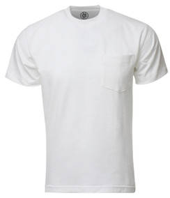 WHITE PREMIUM MAX HEAVYWEIGHT POCKET T-SHIRT